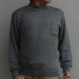 メンズ ハイネックセーター ビジネス 日本製 無地 洗える ビジネス 洗濯OK ウール混 秋冬 ウォッシャブル ベーシック クールビズ ウォームビズ ポケット付き 父の日