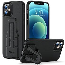 【公式】父の日ギフト TORRAS スタンド付き iPhone 12 用ケース iPhone12 Pro 用ケース 高級PUレザー 薄型軽量 超耐衝撃 ワイヤレス充電対応 TPUバンパー PCバネル 6.1インチ 暇つぶしに最適!