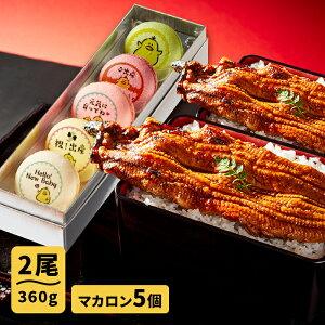 送料無料 父の日 お中元 誕生日 人気のお取り寄せ ギフト プレゼント お取り寄せグルメ 大阪の名店ごかせ川のうなぎ 180g×2本 スイーツの名店フォチェッタの出産メッセージマカロン5個セッ