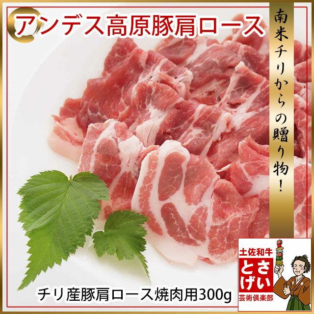 ☆豚ロース☆ アンデス高原豚肩ロース焼肉300g YDKG-kd バーベキュー チリ産豚肉 ぶた肉 ブタ肉 豚ロース肉