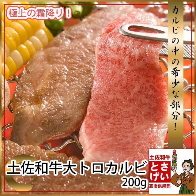 土佐和牛最高級A5大トロカルビ200g バーベキュー 牛カルビ 高知県産