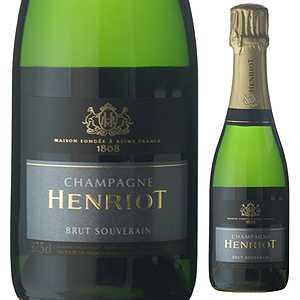 【6本〜送料無料】 [375ml]ブリュット スーヴェラン NV シャンパーニュ アンリオ [ハーフボトル][発泡白]Brut Souverain Champagne Henriot