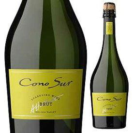 【6本〜送料無料】スパークリングワイン ブリュット NV コノスル 750ml [発泡白]Sparkling Wine Brut Cono Sur [サクラアワード2016 ゴールド]