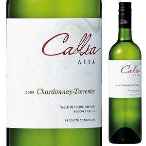 【6本〜送料無料】アルタ シャルドネ トロンテス 2016 カリア 750ml [白]Alta Chardonnay - Torrontes Bodegas Callia [スクリューキャップ][サクラアワード2017 ダイヤモンドトロフィー]