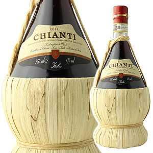 【6本〜送料無料】キャンティ フィアスコ 2014 チェッキ 750ml [赤]Chianti Cecchi