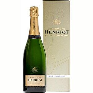 【6本〜送料無料】[ギフトボックス入り]ブリュット ミレジメ 2006 シャンパーニュ アンリオ 750ml [発泡白]Brut Millesime Champagne Henriot