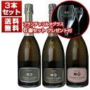 【送料無料】ワイングラス6脚プレゼント付き!名門ベラヴィスタが設立 「コンタディ カスタルディ」上級フランチャコルタ3本セット