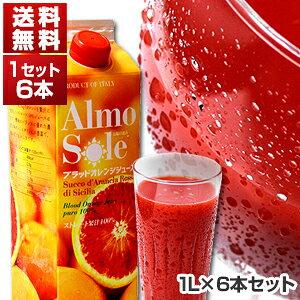 【送料無料】ブラッドオレンジジュース 1L×6本セット アルモソーレ[冷凍食品]【北海道・沖縄・離島は追加送料がかかります】[冷凍食品のみ同梱可]