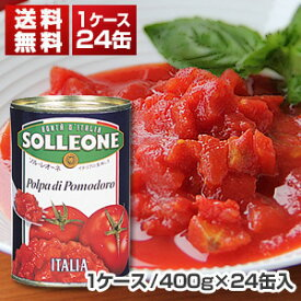 【送料無料】ダイスカットトマト缶 1ケース (400g×24缶入) ソルレオーネ[同梱不可商品]【北海道・沖縄・離島は追加送料がかかります】