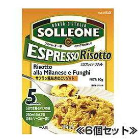 エスプレッソ リゾットミラネーゼ フンギ サフラン風味のきのこリゾット 80g×6個セット ソルレオーネ