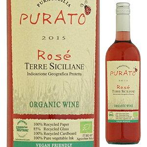 【6本〜送料無料】プラート ロゼ オーガニック 2016 フェウド ディ サンタテレサ 750ml [ロゼ]Purato Rose Organic Feudo di Santa Tresa
