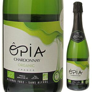 【6本〜送料無料】オピア シャルドネスパークリング オーガニック ノンアルコール NV ドメーヌ ピエール シャヴァン 750ml [発泡白]Opia Chardonnay Sparkling Organic Non-Alcohol Domaine Pierre Chavin [ノンアルコールワイン]