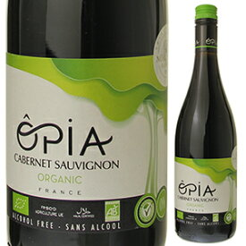 【6本〜送料無料】オピア カベルネソーヴィニョン オーガニック ノンアルコール NV ドメーヌ ピエール シャヴァン 750ml [赤]Opia Cabernet Sauvignon Organic Non-Alcohol Domaine Pierre Chavin [ノンアルコールワイン]