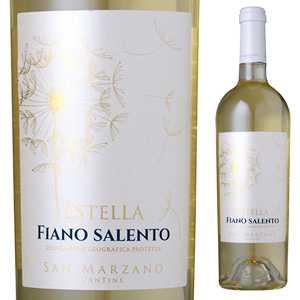 【6本〜送料無料】エステッラ フィアーノ 2017 サン マルツァーノ 750ml [白]Estella Fiano Salento Igp San Marzano Vini S.p.a. [サクラアワード2018 ゴールド]