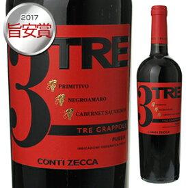【6本〜送料無料】トレ グラッポリ コンティ ゼッカ 2017 750ml [赤]Tre Grappoli Rosso [旨安賞2017]