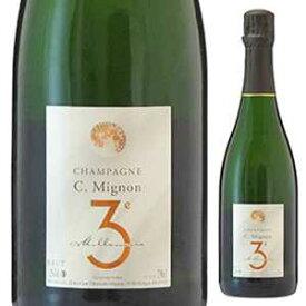 【6本〜送料無料】[11月6日(金)以降発送予定]シャンパーニュ トロワジェーム ミレネール NV クリストフ ミニョン 750ml [発泡白]Champagne Troisi me Mill naire Christophe Mignon