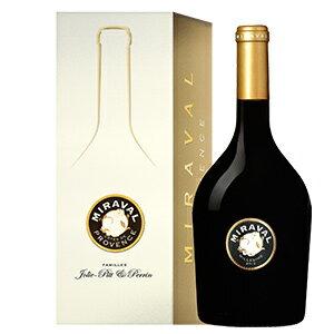 【6本〜送料無料】[ギフトボックス入り]ミラヴァル ルージュ 2013 ジョリー ピット アンド ペラン 750ml [赤]Miraval Rouge Vin De France Giftbox Jolie-Pitt & Perrin