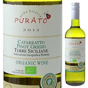 【6本〜送料無料】プラート カタラット ピノ グリージョ オーガニック 2017 フェウド ディ サンタテレサ 750ml [白]Purato Catarratto Pinot Grigio Organic Feudo di Santa Tresa [オーガニック][スクリューキャップ]