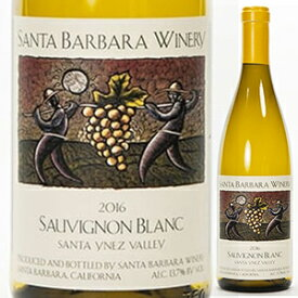 【6本〜送料無料】ソーヴィニヨン ブラン サンタ イネズ ヴァレー 2016 サンタバーバラ ワイナリー 750ml [白]Sauvignon Blanc Santa Ynez Valley Santa Barbara Winery