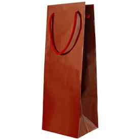 ワイン1本ギフト箱用手提げ紙袋 大 (紙 エンジ)