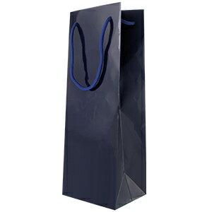 ワイン1本箱用手提げ袋(ビニール・エンジ色)