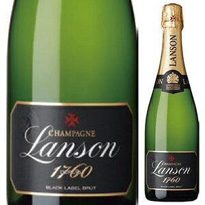 【6本〜送料無料】[5月14日(金)以降発送予定] [375ml]ランソン ブラックラベル ブリュット NV ランソン 375ml [発泡白] [ハーフボトル]Lanson Black Label Brut