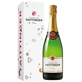 【6本〜送料無料】[ギフトボックス入り]ブリュット レゼルヴ ボックス入リ NV テタンジェ 750ml [発泡白]Brut Reserve with Box Champagne Taittinger