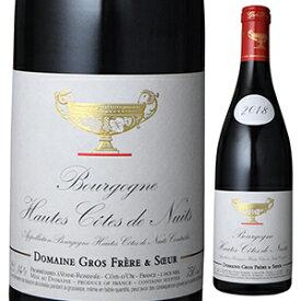 【6本〜送料無料】ブルゴーニュ オート コート ド ニュイ ルージュ 2018 ドメーヌ グロ フレール エ スール 750ml [赤]Bourgogne Hautes Cotes De Nuits Rouge Domaine Gros Frere Et Soeur