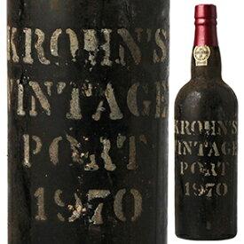 【送料無料】クローン ヴィンテージ ポート 1970 ヴィーズ&クローン 750ml [甘口ポートワイン]Krohn Vintage Port Wiese & Krohn