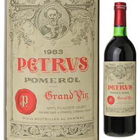 【送料無料】シャトー ペトリュス 1983 750ml [赤]Chateau Petrus