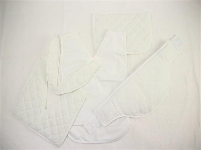 らくらく着物補正下着(白) 着物補整着 綿100% 和装下着 美装きもの学院 着付け お稽古 補整パッド パット 和装小物 パッドセット式 着崩れ防止 浴衣にも 通気性 丸洗い可 メール便不可 kou