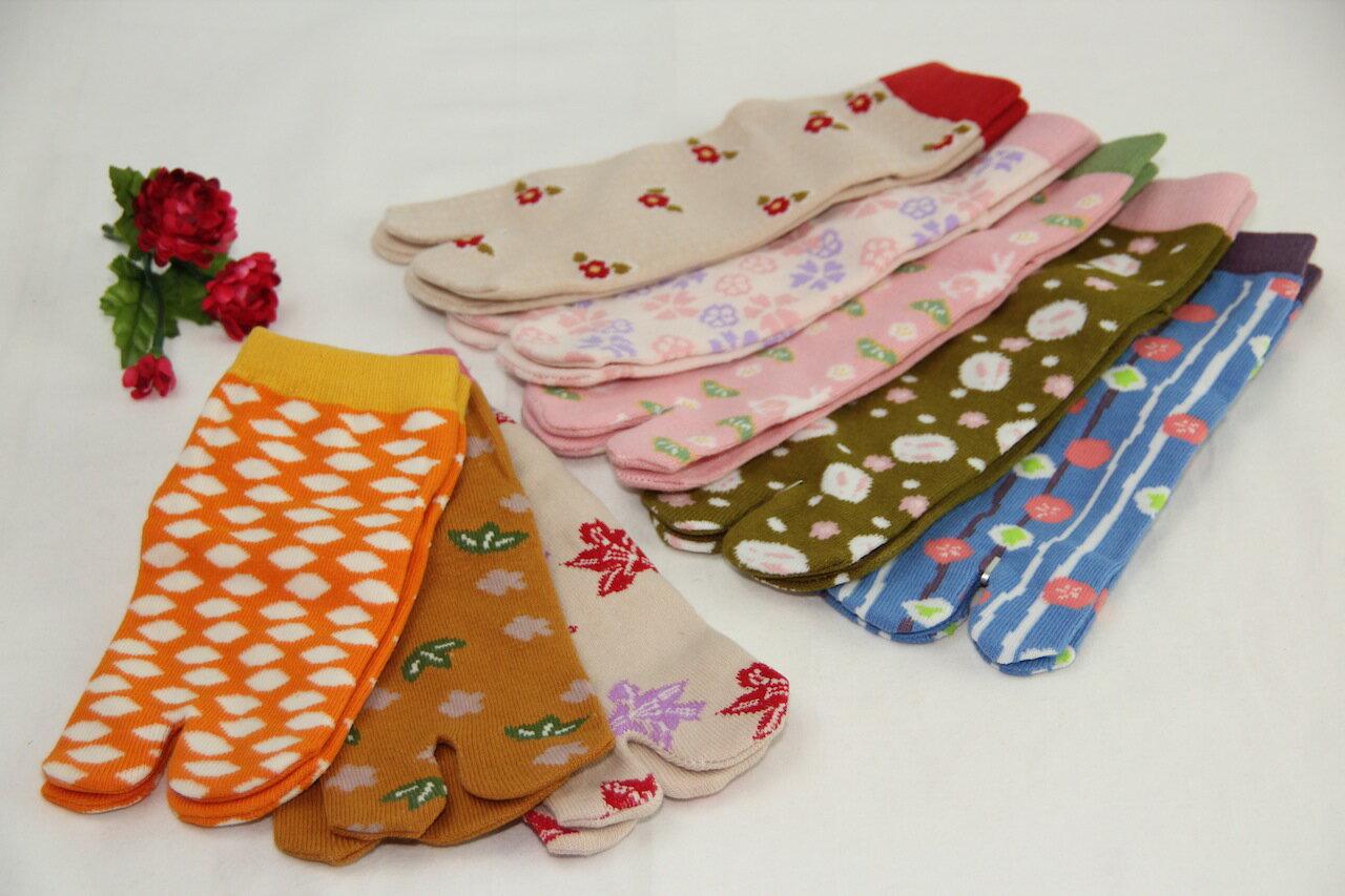 メール便送料無料 女性用 2本指綿足袋 日本製 くつ下 たび ソックス 靴下 足袋ソックス メール便OK