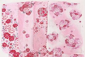 子供用 浴衣 変わり織り 140サイズ ハイジュニア 花柄 女の子 綿100% ゆかた 可愛い レディース レトロ 浴衣帯 下駄 浴衣3点セットにも対応 日本製生地使用 女物 女性 レディース