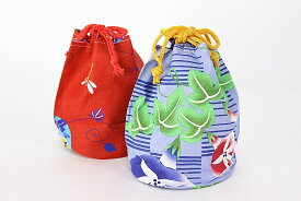 女物 浴衣巾着 きんちゃく リバーシブル バック 和装小物 お祭り 浴衣 小物 子供、ハイジュニアから大人まで幅広く使えます。通信販売 通販 女物 女性用 婦人 yukata ゆかた バッグ