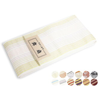 Only in one point of white yellow cream light blue black dark blue purplish red pink blue-black navy which is usable to a home Chikuzen Hakata fabrics half-breadth sash pure silk fabrics Hakata fabrics yukata zone yukata zone underpants zone small sack z