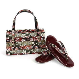 I play it, and shop dealing in kimono fabrics gold eagle carefully made pure silk fabrics obi material sandals bag set sandals 23.5cm tea is most suitable for kimono fashion set gala dress for the New Year charge account woman thing woman woman thing Lad