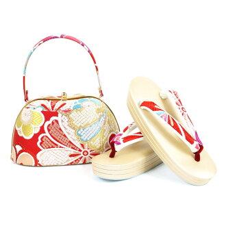 Shop dealing in kimono fabrics pure silk fabrics obi material sandals bag set sandals 24.5cm kimono fashion coming-of-age ceremony New Year holidays gold gold full dress large size adjustable size 振袖留袖訪問着附下結婚式結納入学式 celebration graduation ceremony dressin