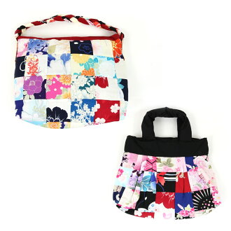 Children child back impossibility of the bag lady woman woman woman ecological from woman thing patchwork bag shoulder type Thoth type accessory yukata kimono Japanese binding in Japanese dress to Western clothes
