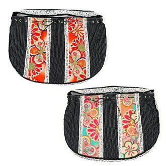 Children child black race dotted ribbon back impossibility of the woman thing bag handbag accessory yukata kimono clothes Western clothes Eco bag race reshuffling bag lady woman woman woman whom there is reason in in Japanese dress in Japanese dress