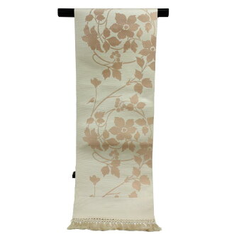I make kimono shop Nishimura textile carefully made pure silk fabrics home Chikuzen Hakata fabrics 8 sun Nagoya style sash, and woman thing brand Nagoya style sash makeup charges for the irregularity Lady's woman serve it