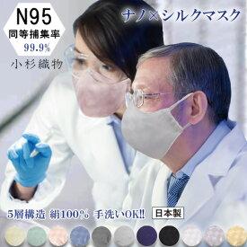 N95 級 マスク 日本製 小杉織物 マスク いとから Itokala (イトカラ) 医療用 水準 高機能マスク ウィルス捕集率『ナノ×シルクマスク』医療従事者にも好評 5層構造 立体 洗える 大人用 シルクマスク 抗菌 抗ウイルス ナノマスク 在庫あり ナノファイバーマスク 即納 送料無料