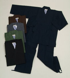 作務衣(紳士用) 久留米織 仕事着 普段着 部屋着 寝間着 和装 綿100% メール便不可