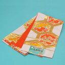【スーパーセール半額】【訳あり特価】<子供用袋帯>(白地に亀甲 鶴)