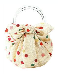 むす美 モダンガール いちごバッグ こんぺいとう 取り寄せ商品 むす美 musubi 掲載 和小物 風呂敷 バッグ ポイント20倍 メール便不可