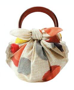 むす美 モダンガール いちごバッグ 水玉 取り寄せ商品 むす美 musubi 掲載 和小物 風呂敷 バッグ ポイント20倍 メール便不可