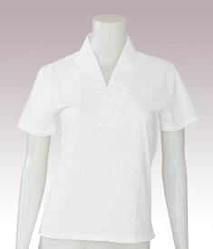 Tシャツ半襦袢(女性用) 夏用半袖 白 取り寄せ商品 日本の踊り 掲載 白衣 寺 神社《女性用 レディース 洗える着物》 ポイント20倍 送料無料 送料込み