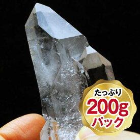 水晶 クラスター|水晶原石 200g パック アーカンソー州産 ロッククリスタル 石英 Crystal Quartz 浄化 ヒマラヤ産水晶よりも透明感のある原石 772-12