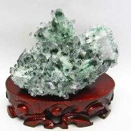緑水晶クラスター台座付属[送料無料]182-598