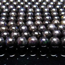 ブラックオパール 一連 6mm [送料無料] 714-76