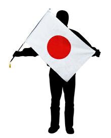 手旗サイズ国旗日の丸・伸縮ポールセット(Lサイズ)